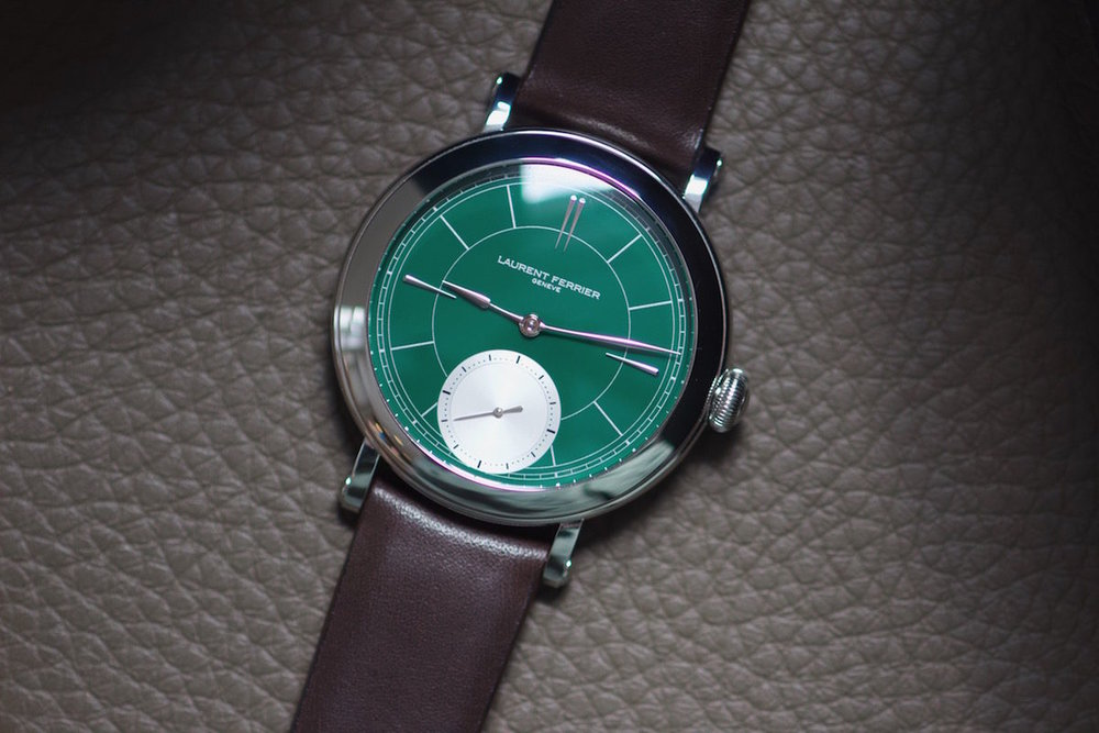 The Rake:  WATCH OF THE WEEK: LAURENT FERRIER GALET MICRO-ROTOR 'MONTRE ECOLE' BRITISH RACING GREEN