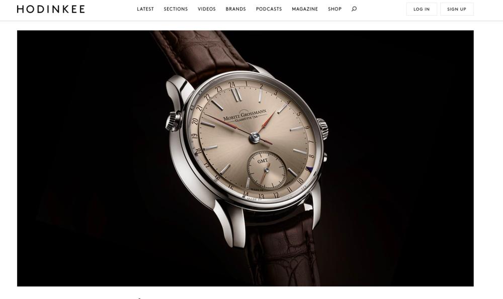 HODINKEE:   Introducing The Moritz Grossmann ATUM GMT