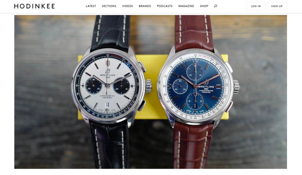 HODINKEE: Introducing  The New Breitling Premier Collection (Live Pics & Pricing)