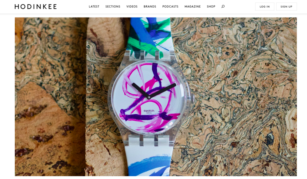 HODINKEE:  IntroducingThe Swatch Pigcasso Limited Edition (Live Pics & Pricing)