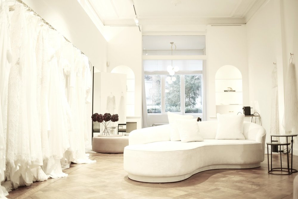 Inside the beautiful boutique