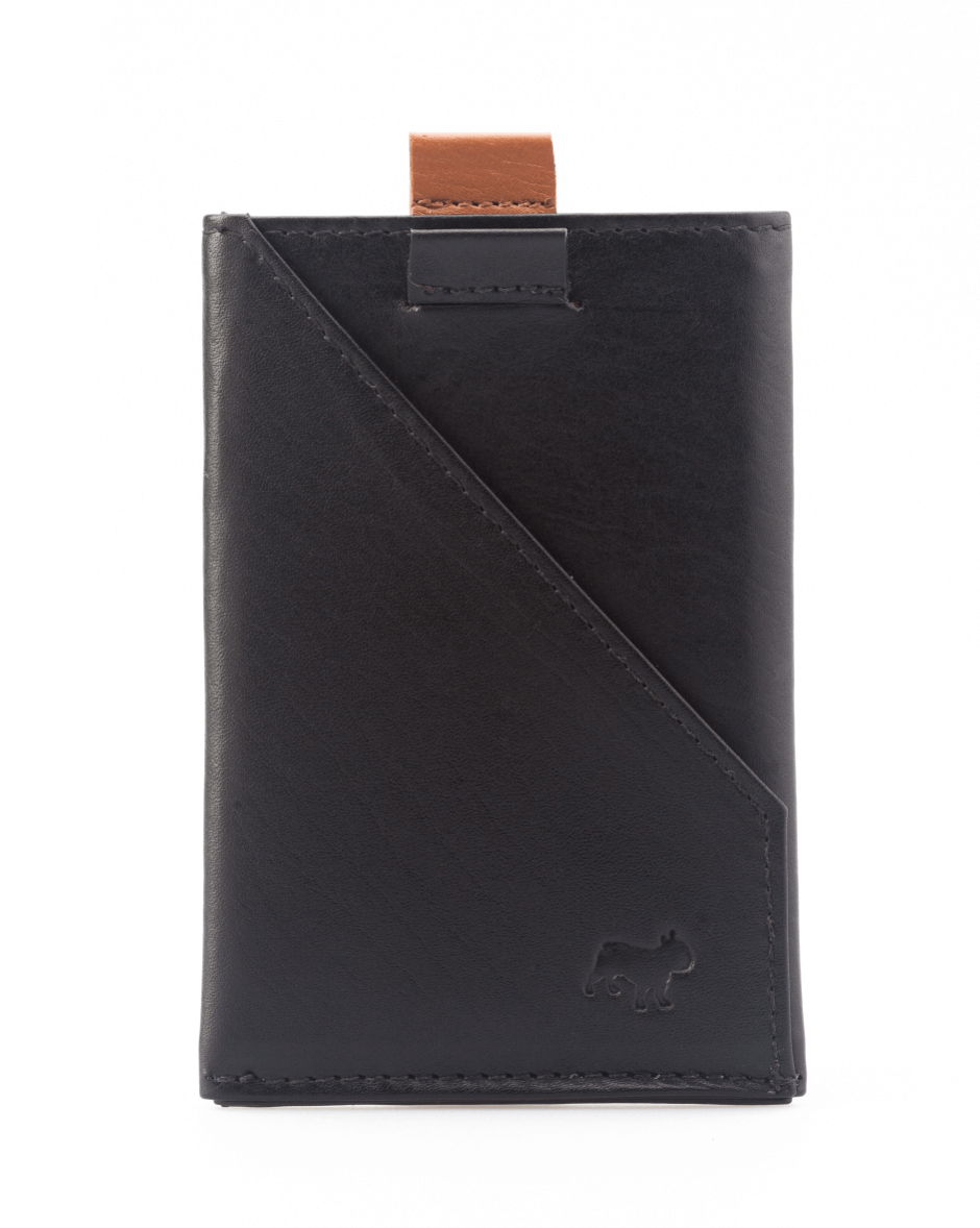 Frenchie Italian leather slim functional style speed wallet card holder