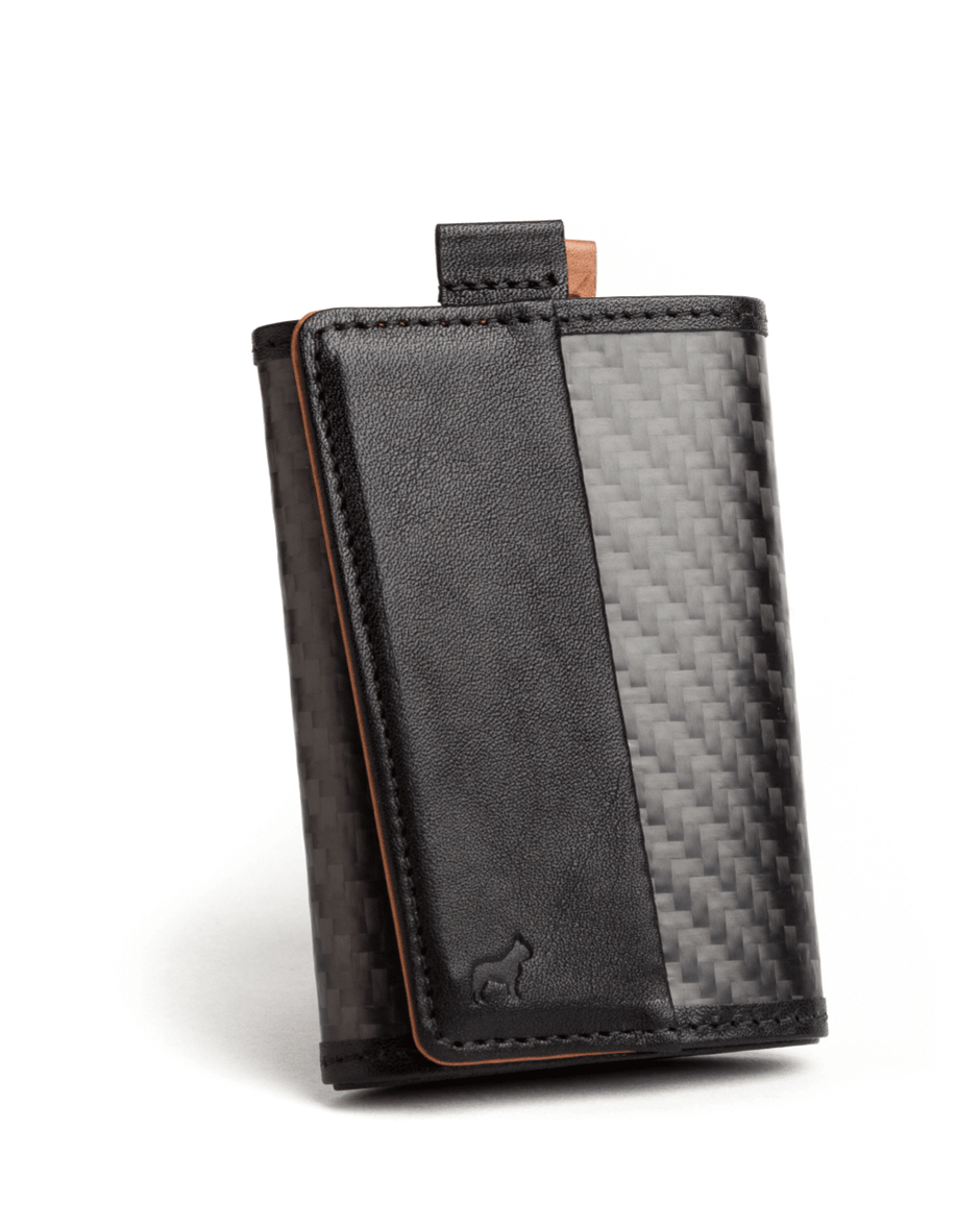 carbon fiber Frenchie Italian leather slim functional style speed wallet