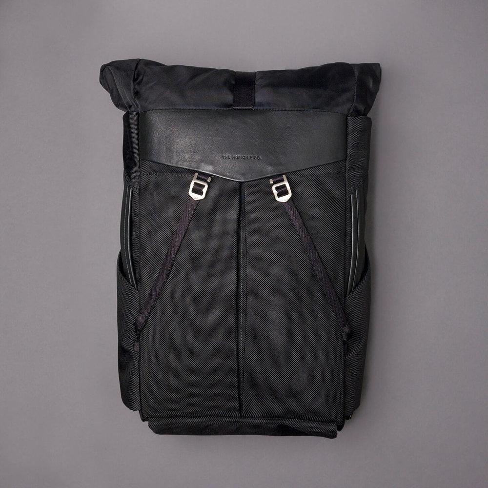 Anti-theft speed backpack ballistic nylon finest Italian leather
