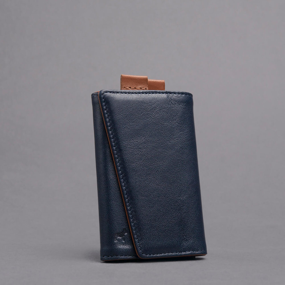 Frenchie Italian leather slim functional style speed wallet