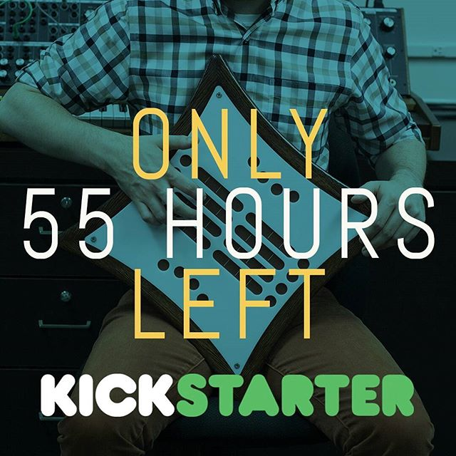 ONLY 55 HOURS (you read it right) until our Kickstarter campaign finishes off! Act now and back the Mune on Kickstarter today before it's too late. . . . #synth #synthesizer #mune #midi #midicontroller #dj #abletonlive #ableton #cycling74 #max7 #makemusic #musicperformance #musicproduction #crowdfunding #gearporn