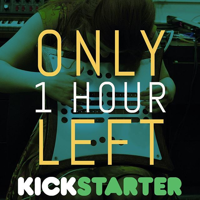 One hour left for our Kickstarter! See you on the other side! https://www.kickstarter.com/projects/919122189/mune-a-new-kind-of-electronic-instrument . . #mune #midi #synth