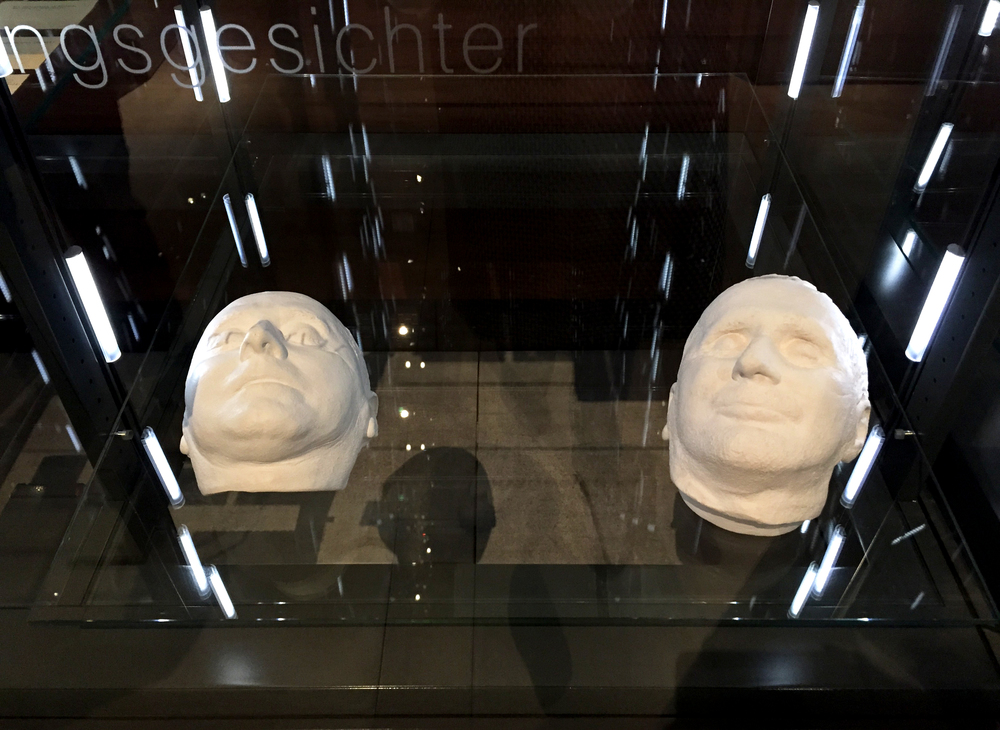 Memory Faces (aka Death Masks) of authors in the permanent exhibition Die Seele - The Soul.