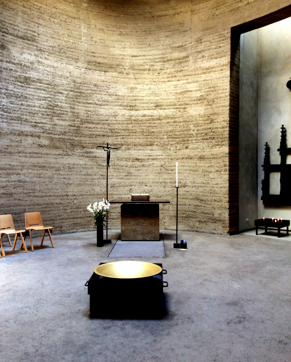 Interior of the Chapel of Reconciliation on Bernauer Strasse.