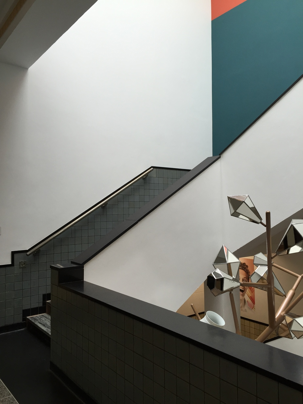 Berlage's clear lines, top lighting and contrasting colour scheme make his staircases into Mondrian-like works of art.