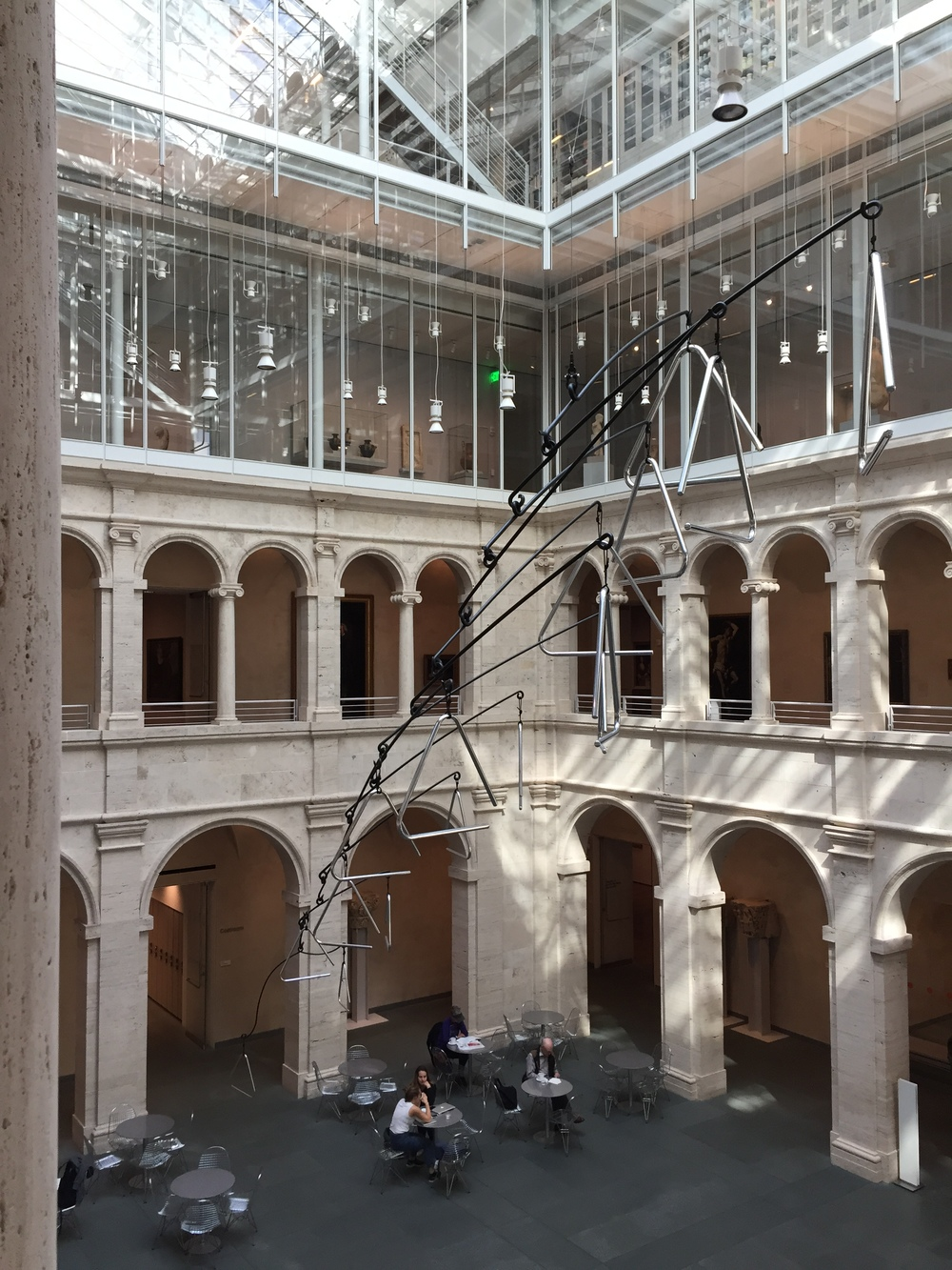 The central courtyard around which all the galleries are arranged is now flooded with light from above