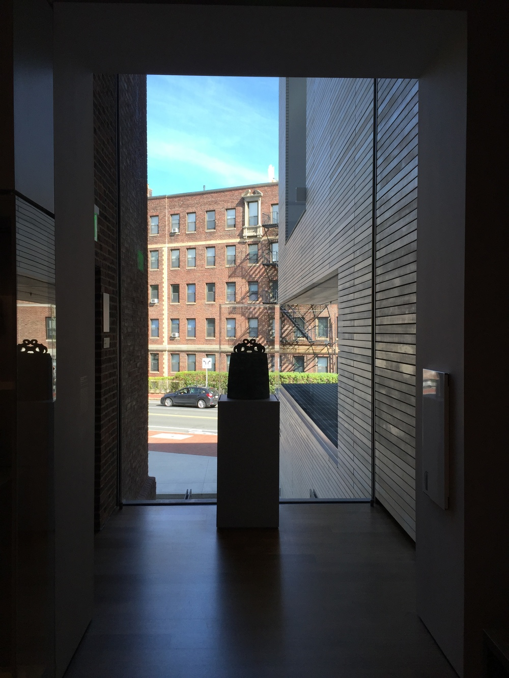 Artefacts seen within a daylit gallery offering views to neighbouring Harvard Buildings become more of an expression of everyday life