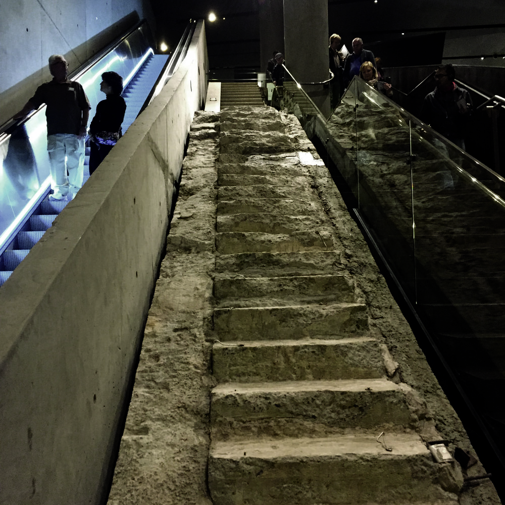 The Vesey Street Staircase was used by lucky survivors escaping the World Trade Center on 9/11. Image copyright Clare Hughes