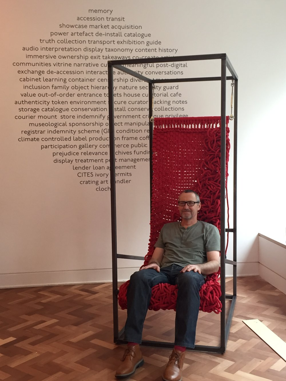 Ken Grix, FCBStudios partner, model-maker extraordinaire and now weaver and furniture-maker.