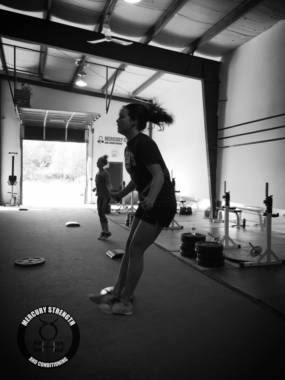 Syd cranking out the double unders yesterday.