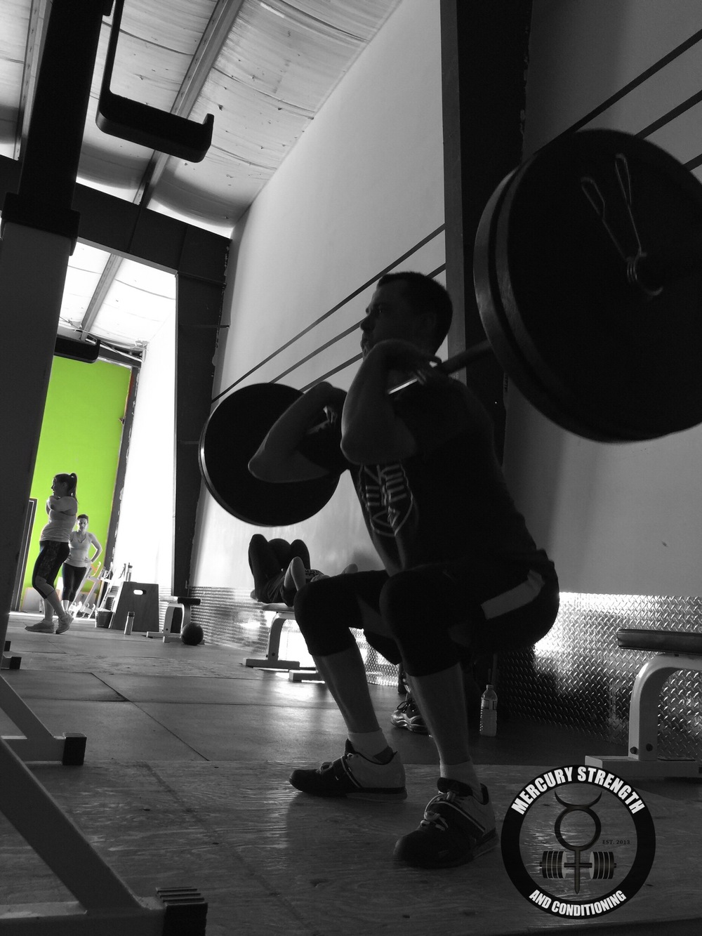 Nick with some front squats during yesterday's workout.