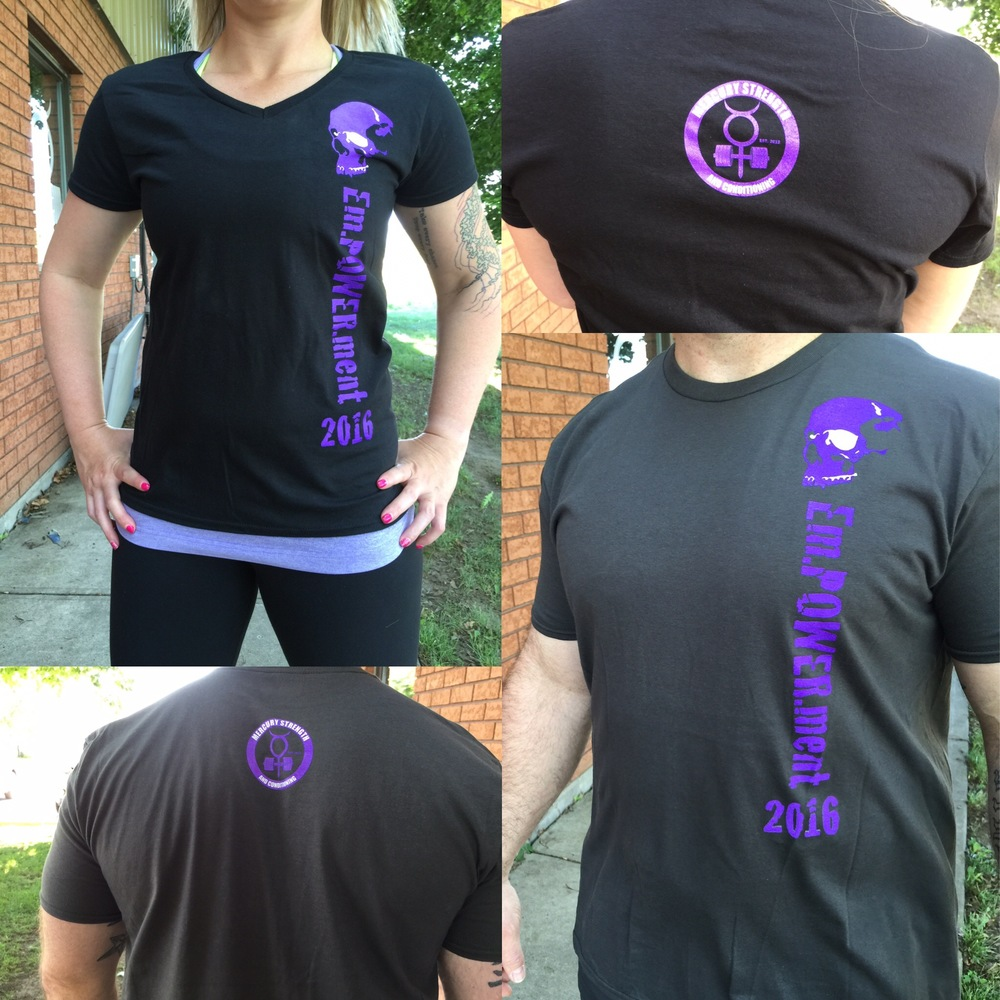 There are still a few of these shirts remaining! This is a limited edition inaugural shirt for our new clothing line! Women's v-neck $25 and unisex t-shirts $20 (all prices include HST).