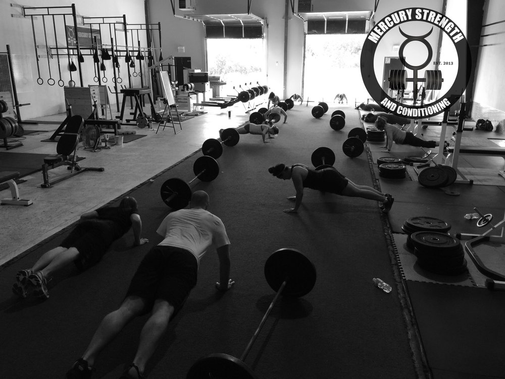 A packed 16:45 session getting some push-ups in.