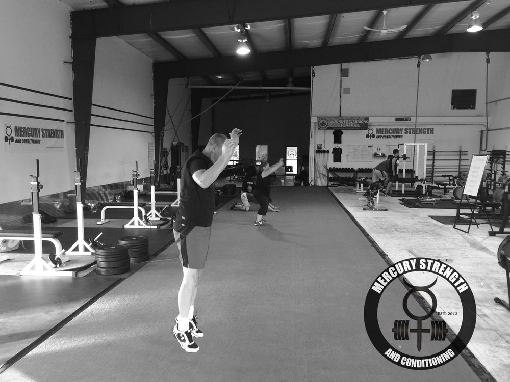 Rob, Lori, Shawna, and Jamie all pushing each other through a tough workout Monday evening.