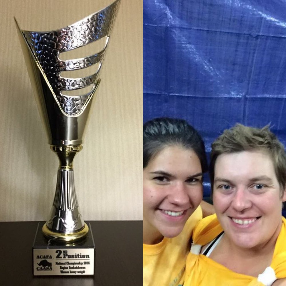 Congrats to Shannon, pictured on the right in the right picture, for finishing as the second STRONGEST woman in Canada this weekend! We are very proud of you!