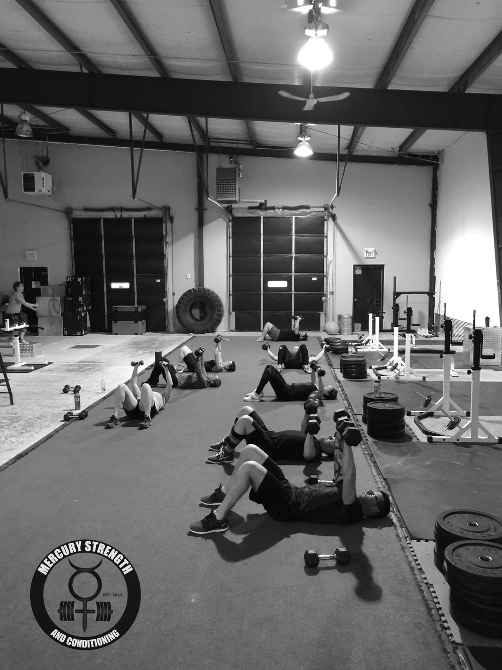 A bust 16:45 session with some DB floor press and DB flys