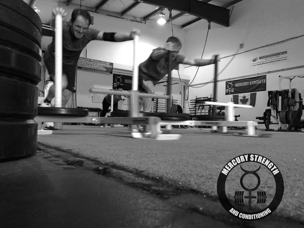 Gym-powerlifting-fitness-training-bootcamp-crossfit-kingston-kids-mercury-strength-conditioning-athlete-prowler