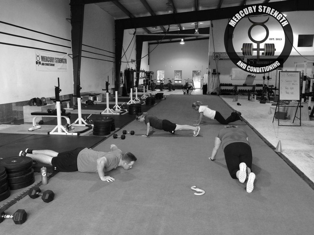 Some of the 16:45 crew with some push-ups