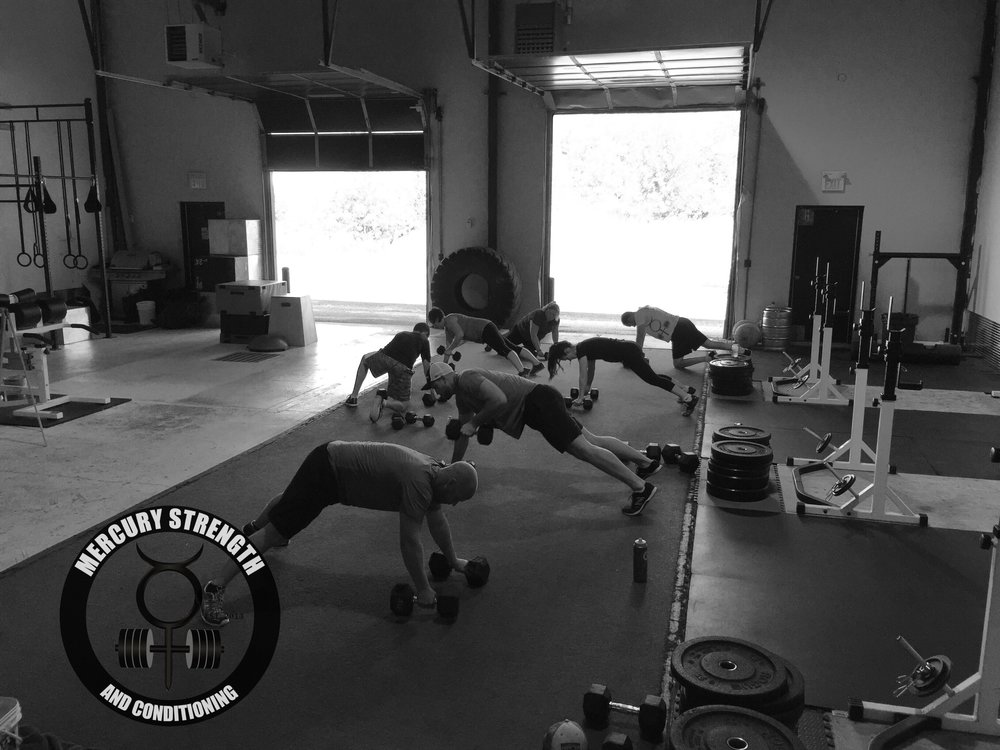 Some renegade rows after some bench press