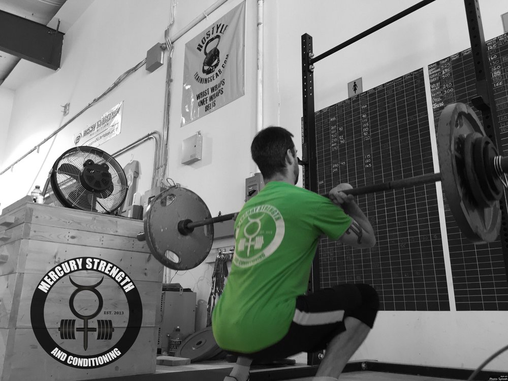 Nick hitting one of his front squat reps