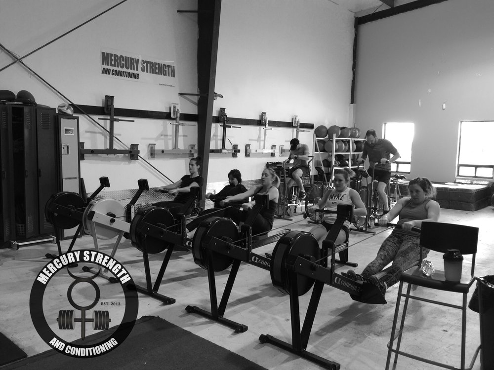 A good Remembrance Day crew with a rowing/air dyne Murph