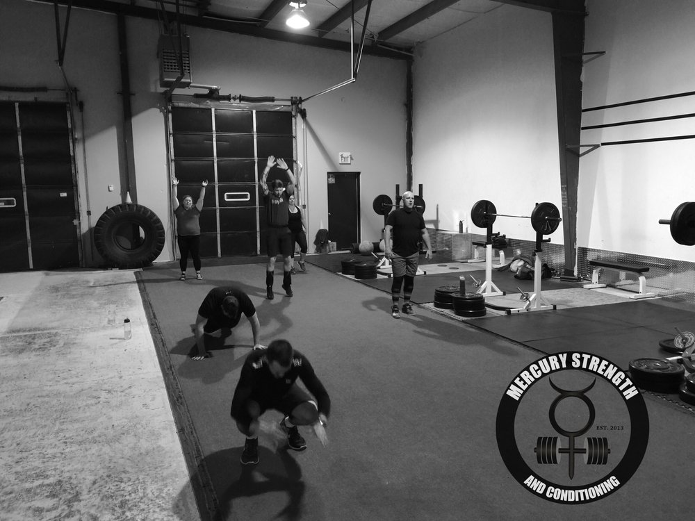 A busy 16:45 session with some burpees