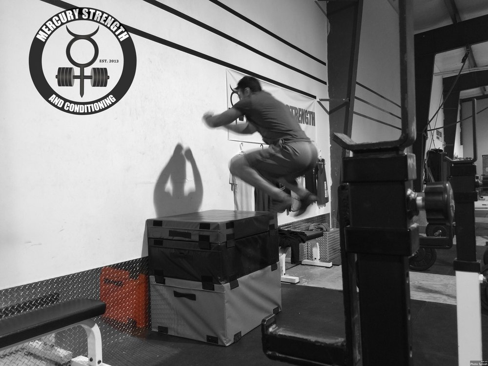 Mike getting some air on the box jumps