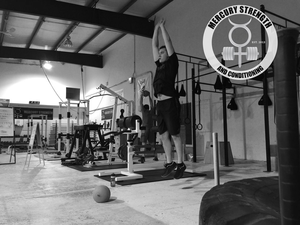 Eddie and Mike repping out during the ball slam/burpee/hollow rock ladder.