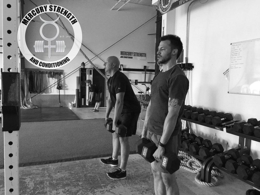 Jordan, Curtis, and Brogan with some DB Romanian deadlifts