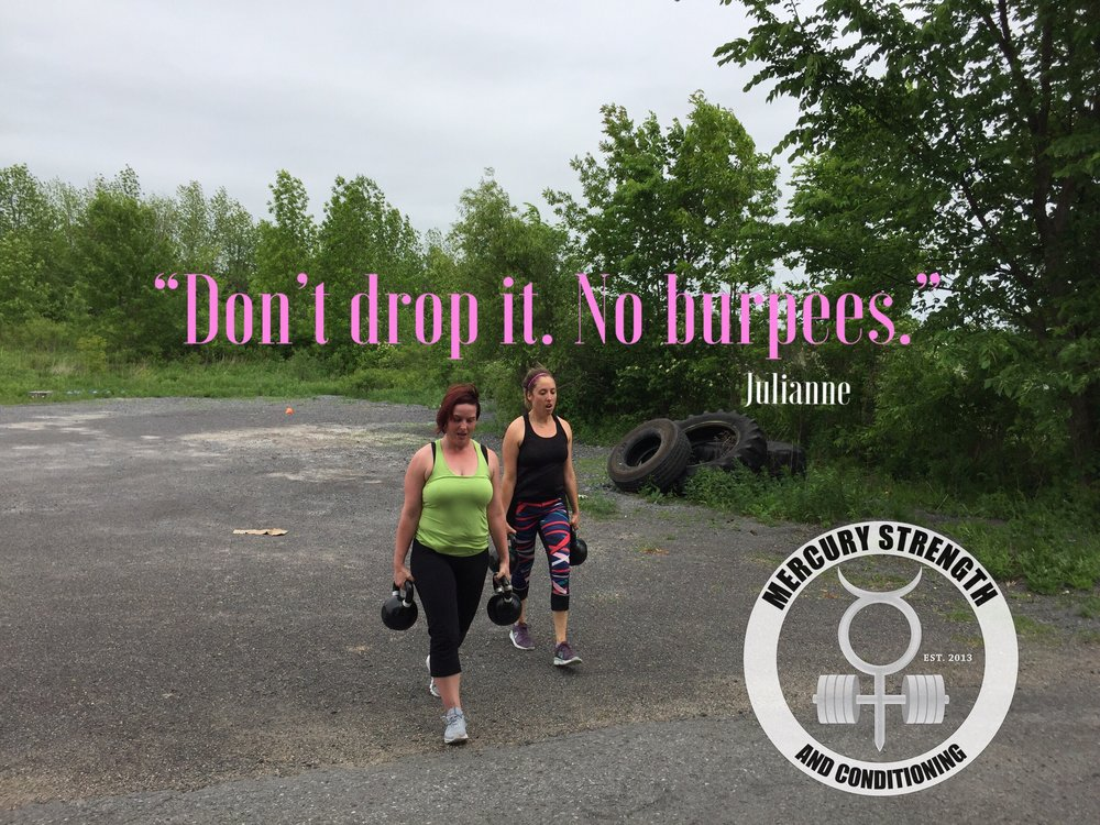 Julianne's mantra during Saturday's workout