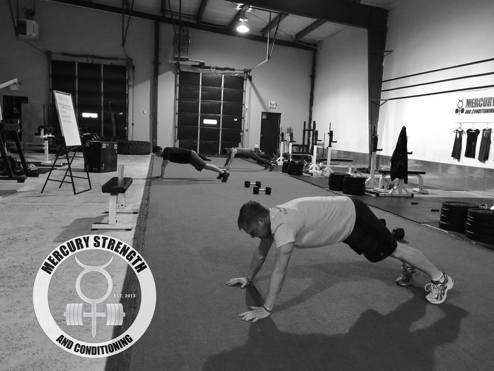 Paul, Eddy, and Kim with some banded lateral plank walks