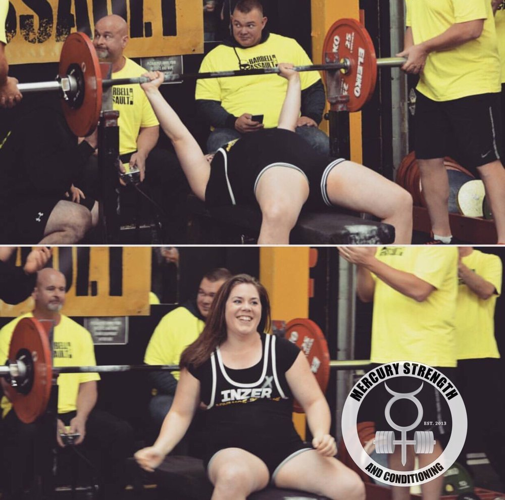 "Today Lydia embarks on a new chapter in her life by moving to Edmonton. She definitely brought the word ""inspiration"" to fruition by coming back after several ankle surgeries and going through many ups and downs with training. She never gave up! She set a few National powerlifting records and she is going to build on those while in Alberta! GOOD LUCK LYDIA!!! You are already missed!"