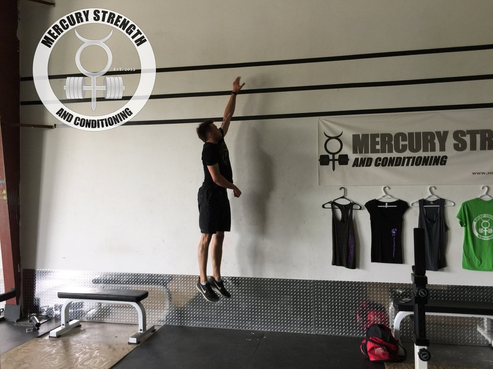 Jordan getting some air with some vertical jumps