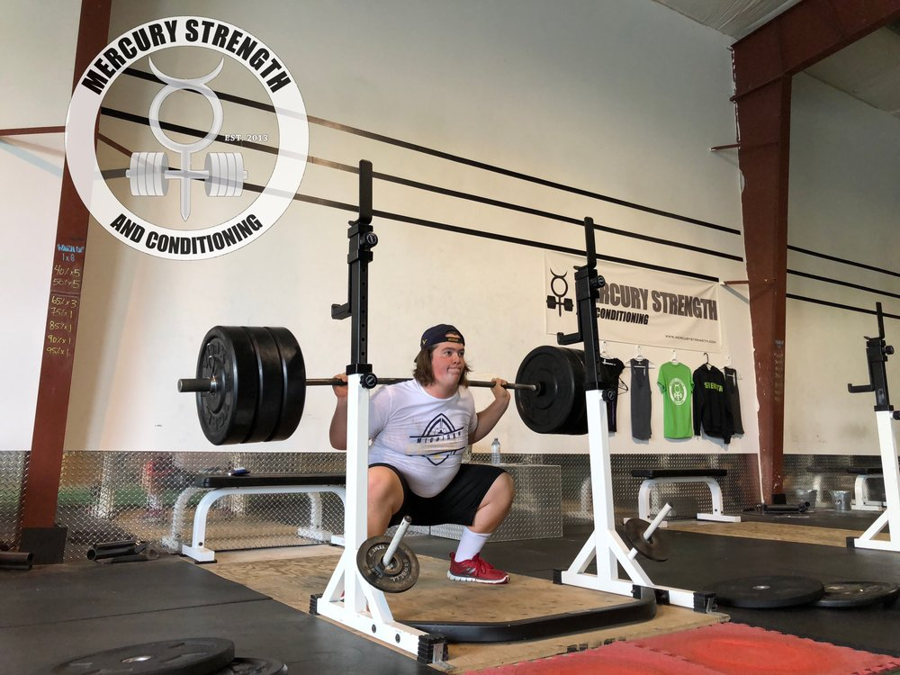 Zach, 16, smashing 315 for easy triples! Watch out for this young man on the football field!