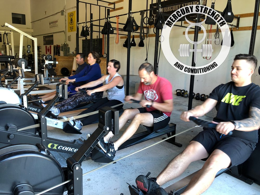 Ryan, Andrew, Lindsey, Susanna, and Michael with some no leg rowing