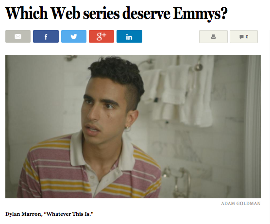 Boston Globe Dream Emmys - Best Actor, Drama (Whatever this is.)