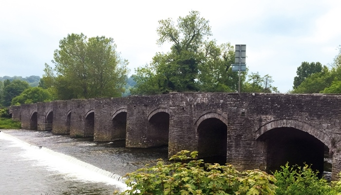 Crickhowell Bridge, Wales. Photograph Alan Clark 2016