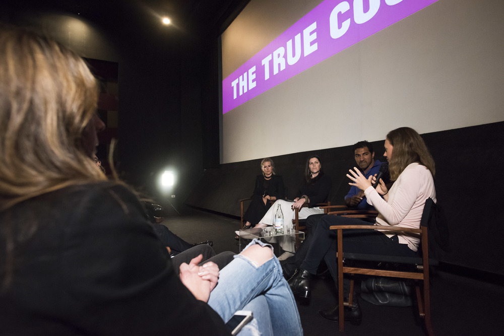 Facilitating & hosting 'The True Cost' documentary launch screening Q & A Panel. Sydney, Australia May 2015