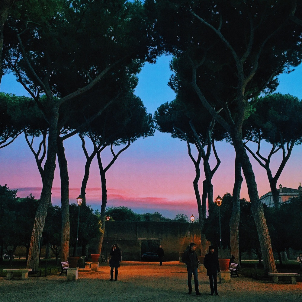 Sunset photo from il giardino degli aranci, by Aaron Purkey
