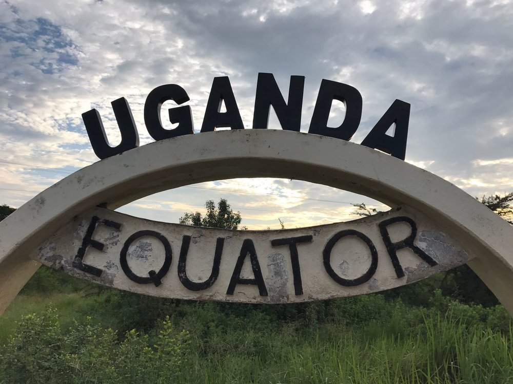 The equator crosses right through Uganda