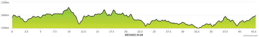 Full Marathon (42k) Running the Rift Course Profile