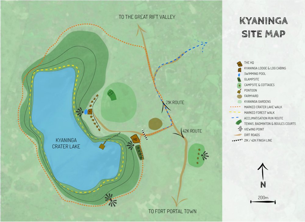 Map of RiftMaz Marathon HQ, Uganda