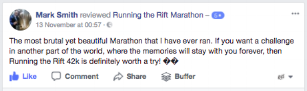 Running the Rift Marathon, Uganda, Review