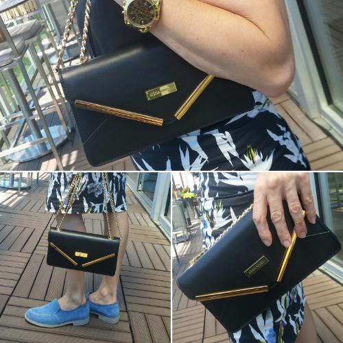 Kylie showing off a Koda Nivoli clutch