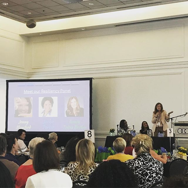 @think8women Nancy in action on the resiliency panel. What is resiliency? Know who you are, where you are and where you're going. And then flow. #journey2success #companyofwomen